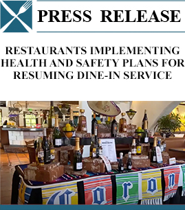 Restaurants Implementing Health and Safety Plans for Resuming Dine-in Service banner image