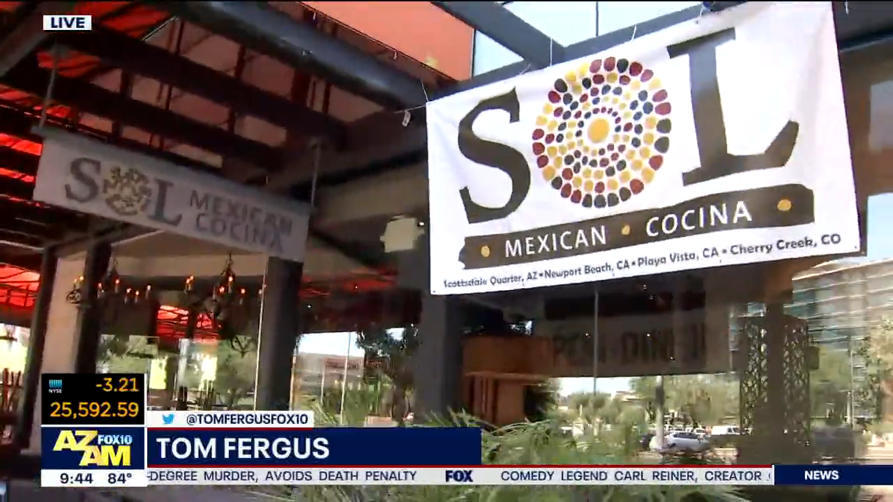 SOL Cocina Scottdale's feature on FOX10 Arizona