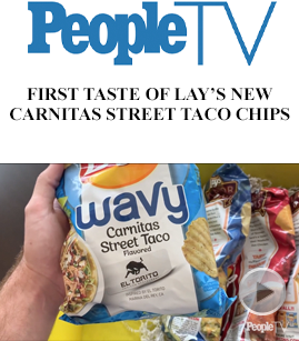 First Taste of Lay's New Carnitas Street Taco Chips banner image