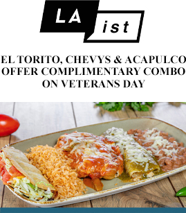 El Torito, Chevys & Acapulco Offer Complimentary Combo On Veterans Day banner image
