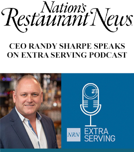 CEO Randy Sharpe speaks on extra serving podcast banner image