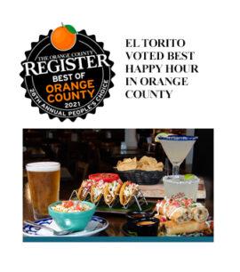 Eltorito Voted Best Happy Hour In Orange County banner image